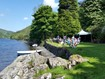 Outside seating area Llyn Crafant
