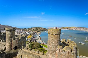 View from Conwy Castle tower