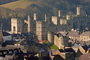Caernarfon Castle And Town
