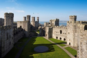 Caernarfon Castle on the North Wales Coast
