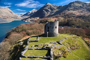 Dolbadarn Castle From The Air