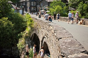 Pont Y Pair Bridge In Betws Y Coed