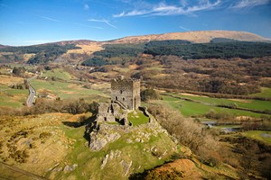 Dolwyddelan Castle from the air