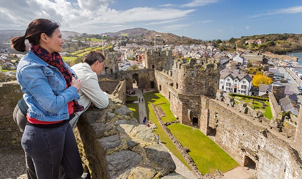 View into Conwy Castle