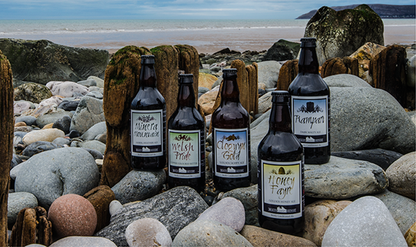 Conwy Brewery Beer Bottles on Beach