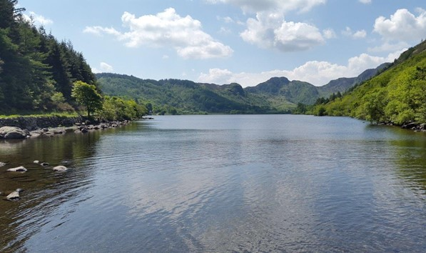 View from Lakeside Cafe Llyn Crafnant