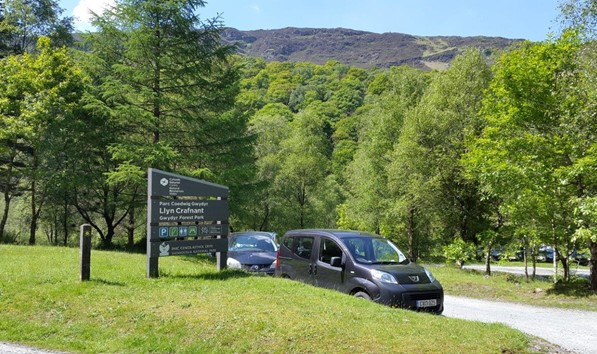 Parking Area at Llyn Crafnant