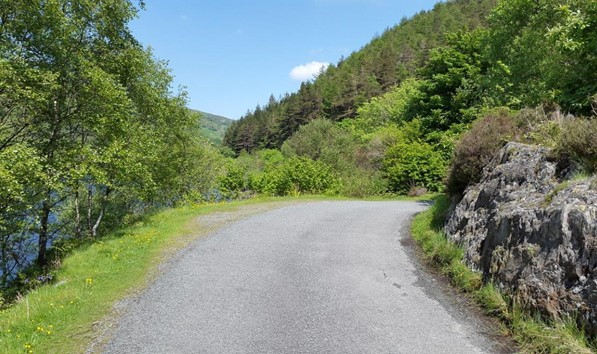 Road around Llyn Crafnant