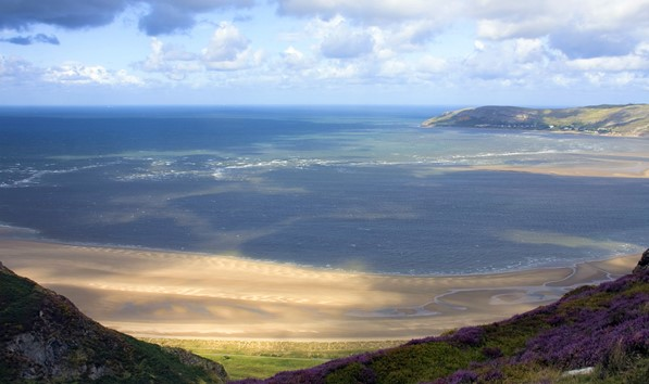 Conwy Morfa Beach viewed from Conwy Mountain