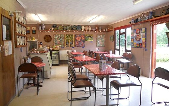 The cafe at Piggery Pottery