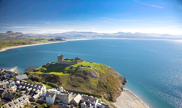 Criccieth Castle Looking Into The Bay
