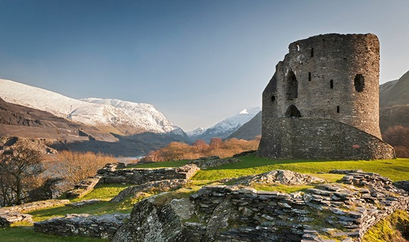 Dolbard castle in Snowdonia