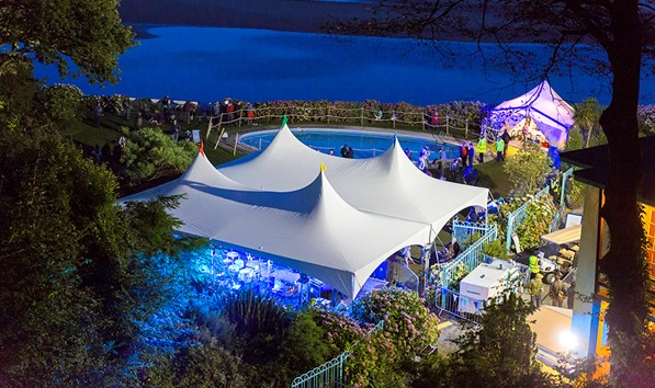 Festival number 6 at night in Portmeirion