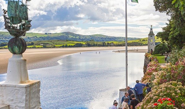 View of the estuary from Portmeirion