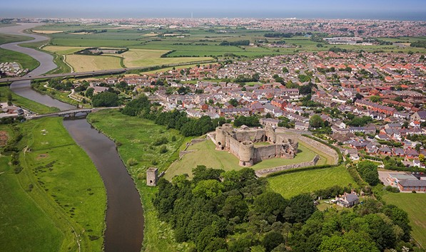 Rhuddlan Castle And Rhyl