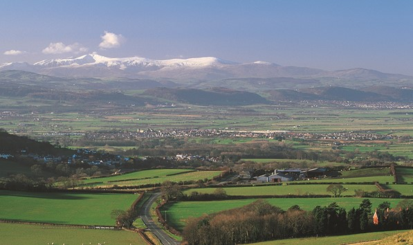Vale of Clwyd in NE Wales