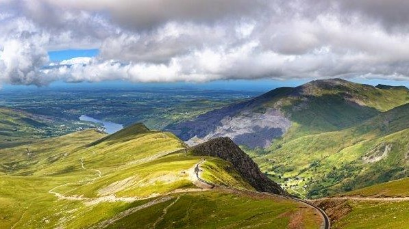 View from Snowdon towards Llanberis
