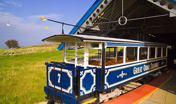 Tram in shed on the Great Orme