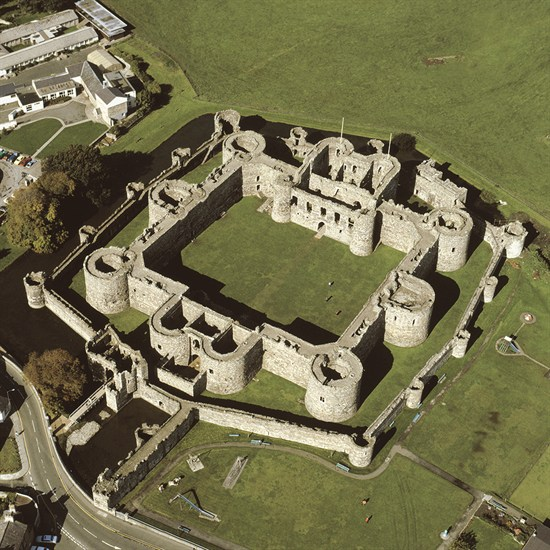 Beaumaris Castle From The Air