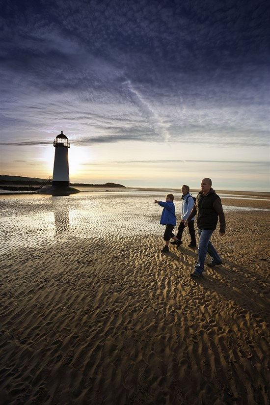 Talacre Lighthouse Near Point Of Ayr Flintshire