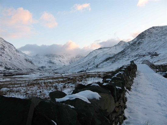 Nant Ffrancon Valley snow 1