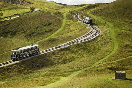 Great Orme Trams Passing